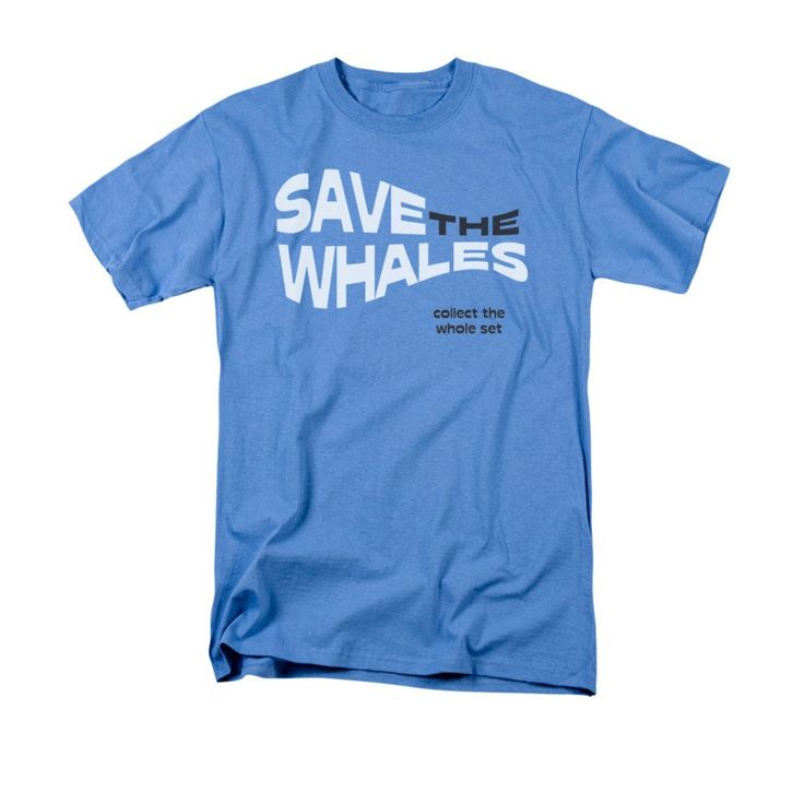 Save The Whales Adult Regular Fit T-Shirt