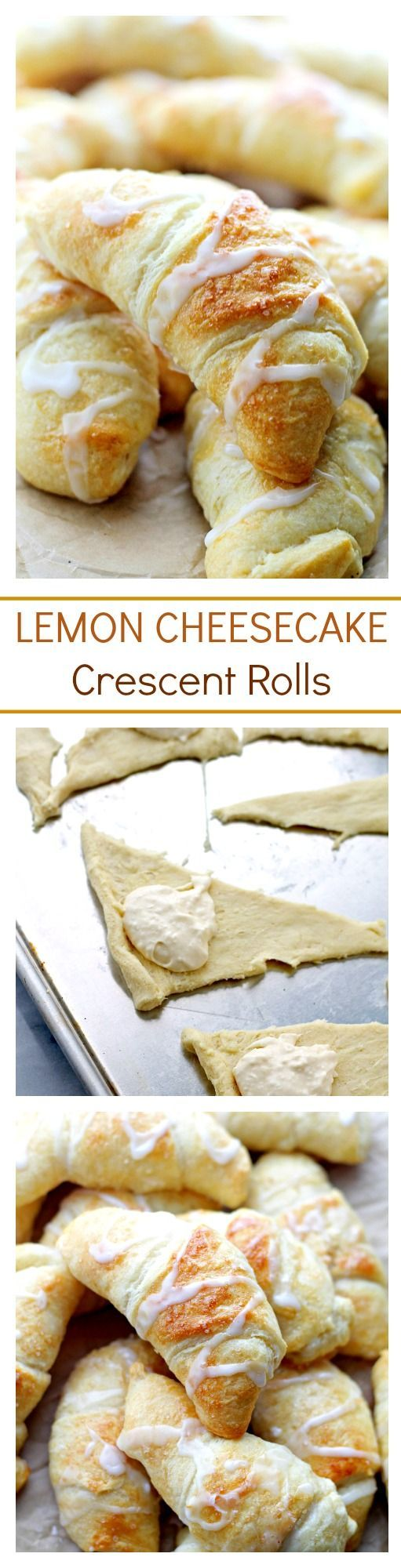 Lemon Cheesecake Crescent Rolls | www.diethood.com | Super easy and incredibly soft Crescent Rolls filled with a sweet and delicious lemon and cream cheese mixture.