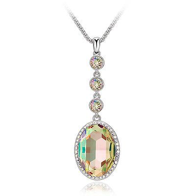 LONG PENDANT NECKLACE MADE WITH SWAROVSKI ELEMENTS with free silk pouch in Jewellery & Watches, Fashion Jewellery, Necklaces & Pendants   eBay