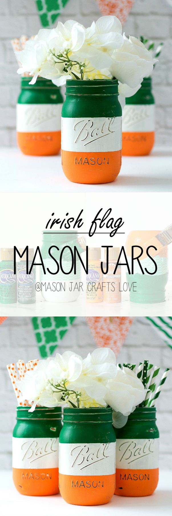 Mason Jar Craft Ideas - St Patricks Day Party Ideas