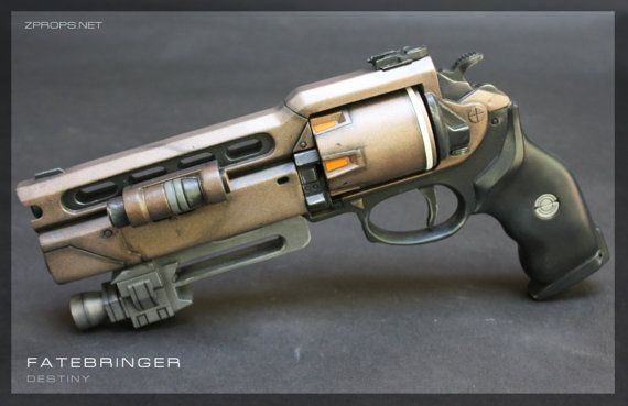 2 Part Destiny Fatebringer Hand Cannon Pistol Prop Finished/Painted
