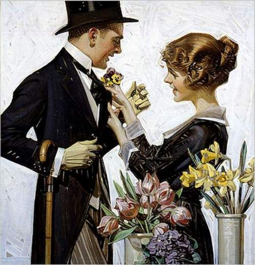 The Florist...1920...J.C. Leyendecker