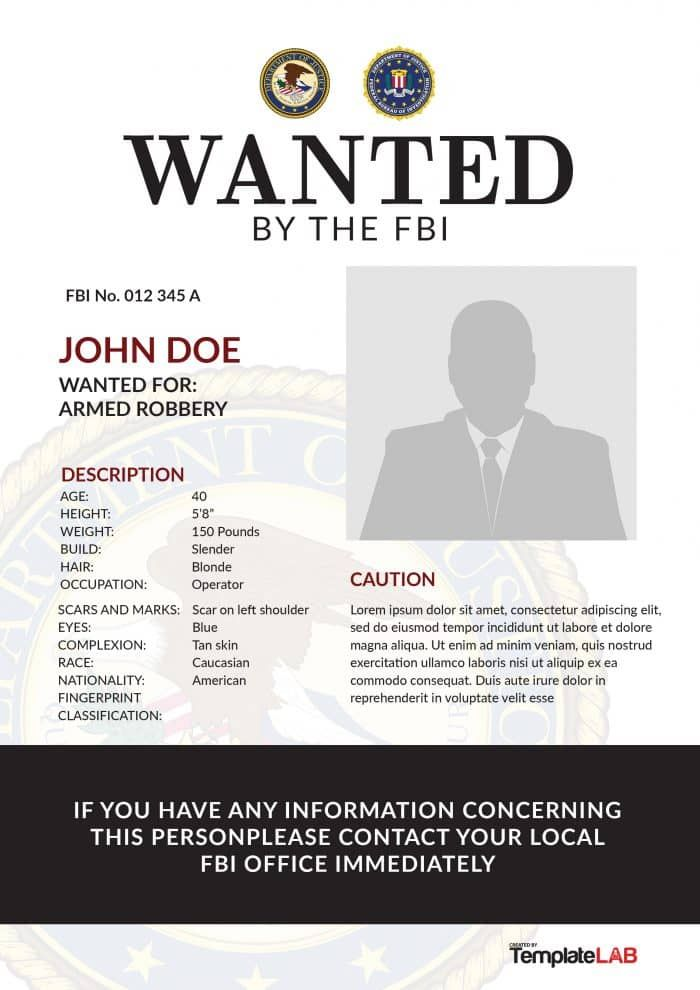Download Fbi Wanted Poster 4 Templatelab Word Template Poster Template Words