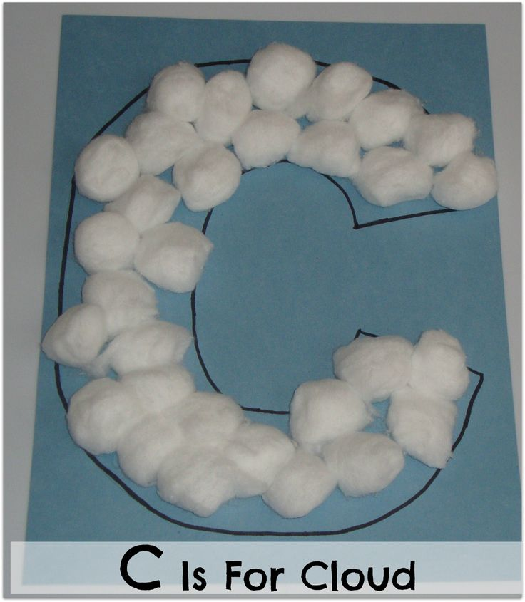 Alphabet Exploration C Is For Cloud Letter