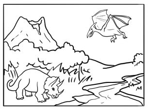 Amazing Dinosaur Coloring Sheets