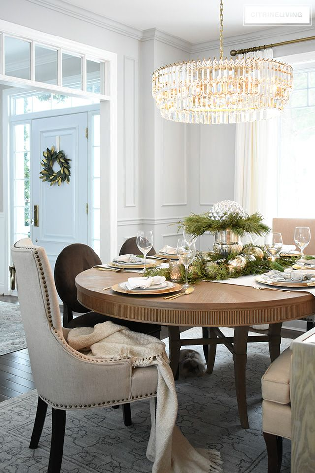 How To Create A Christmas Table With Fresh Greenery Beautiful