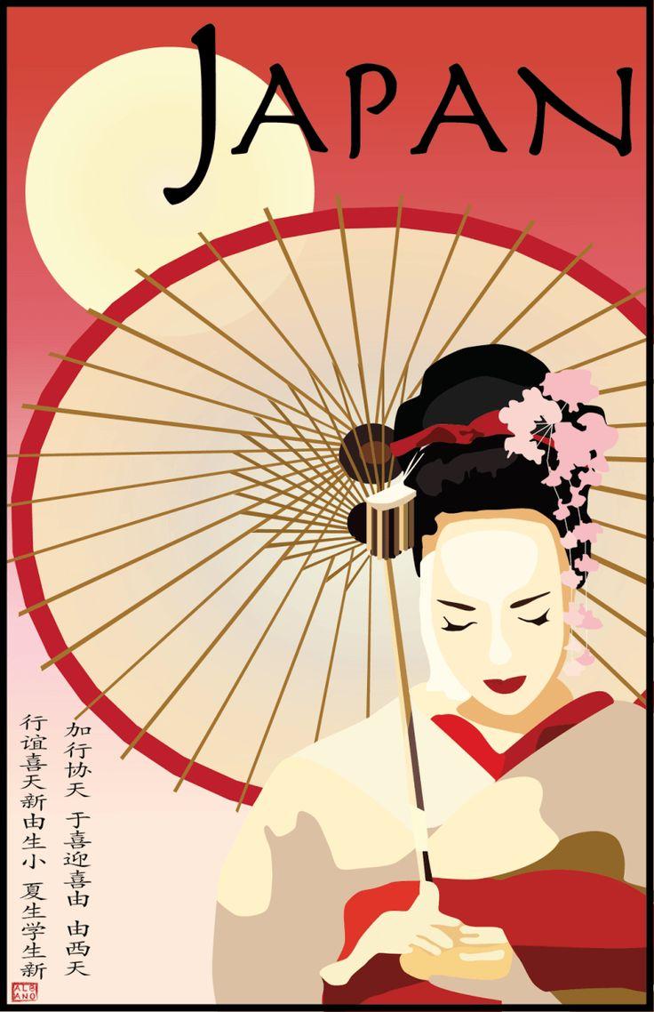 Japan, poster vintage