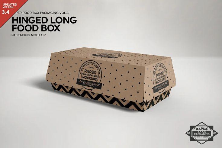 Vol 3 Food Box Packaging Mockups Free Packaging Mockup Design Mockup Free Food Box Packaging