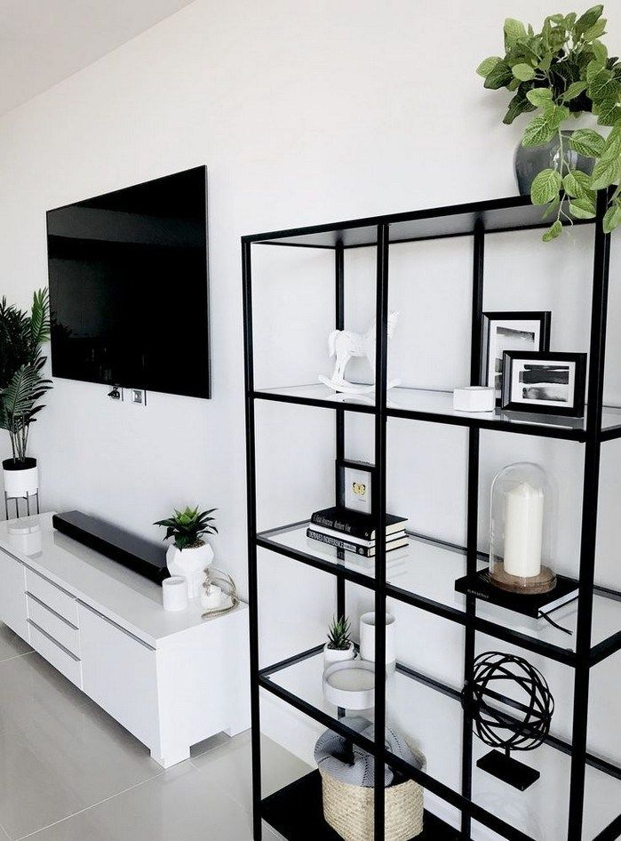 50 Simple But Smart Shelves Decorations For Living Room Storage Ideas Ikea Home Living Room Decor Apartment Small Apartment Living