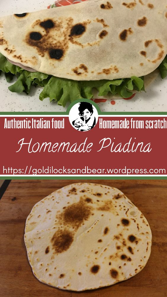 Piadina is a typical Italian bread from Emilia Romagna. It's used as a wrap for many fillings all around the region, and it's usually fresh made since it takes just a few minutes to cook. Making it fresh at home instead of buying the premade one is a real treat.
