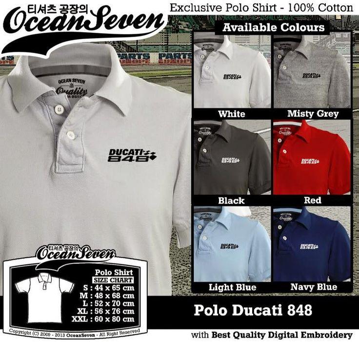 Kaos Polo Ducati 848 | Kaos Polo - Exclusive Polo Shirt