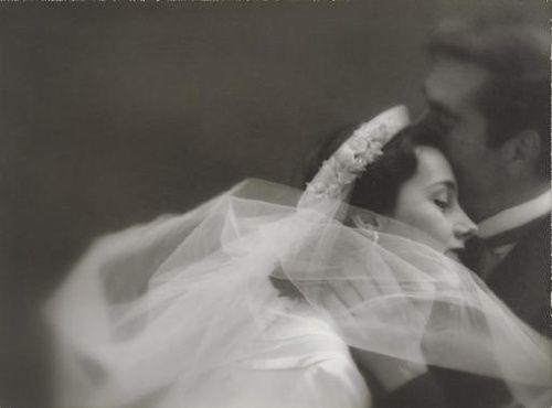 Wedding attire for Harper's Bazaar, 1951.  Photo by Lillian Bassman.