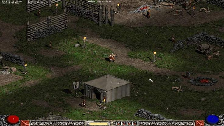 Diablo 1 and 2 PC Game - Even though this game is more comfortable to play in single player, but you can also choose the multiplayer menu if you want to play with your partner.