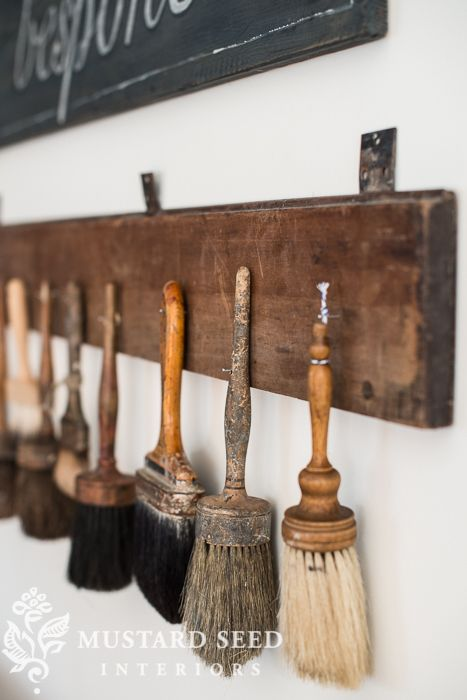 antique brushes | miss mustard seed
