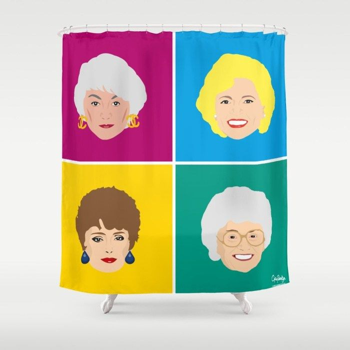 Buy The Golden Girls Pop Art Style Print Shower Curtain By