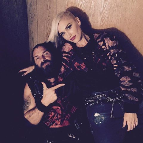 Tim Timebomb & Gwen Stefani backstage at Riot Fest in Chicago.