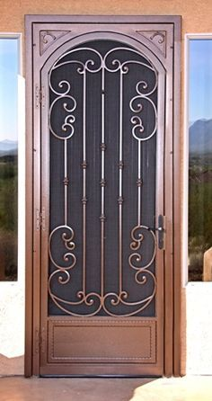 Stylish security door to match your home decor. Description from pinterest.com. I searched for this on bing.com/images