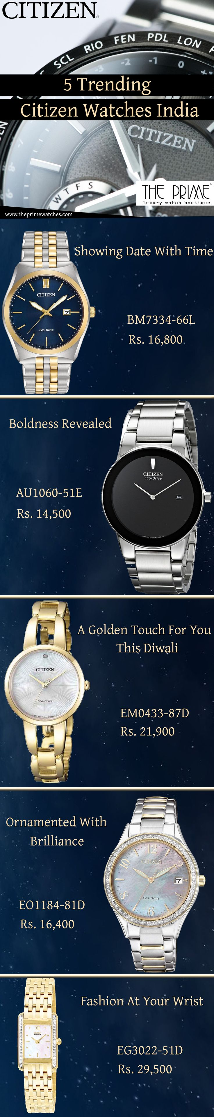 Now is the time to gear up for Diwali, so the Indians are crazy to buy something that gives the most value of money. In this content, you will the Citizen watches that are most sought after in India. Citizen watches are searched by the Indian watch users because of their affordability and effectiveness. Below are some magnificent Citizen watches that are trending in India.