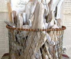 driftwood: Driftwood, Sea, Home Decor, Beaches Houses, Wire Baskets, Drift Wood, Great Ideas, The Beaches, Beaches Cottages