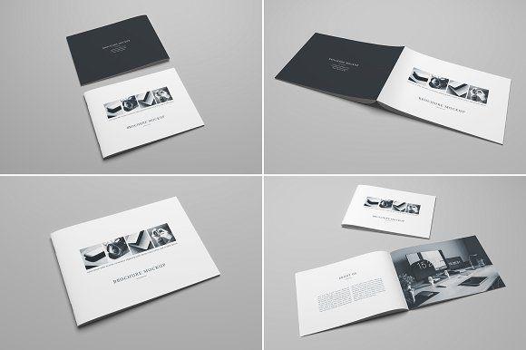 A4 Landscape Brochure Mockup by Petr Stránský on @creativemarket