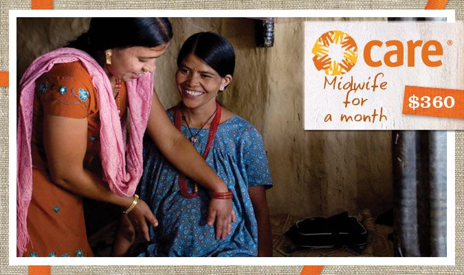 Healthy mothers raise healthy children and create vibrant communities around the world. A midwife for a month will keep a mother healthy and help her deliver a healthy baby.