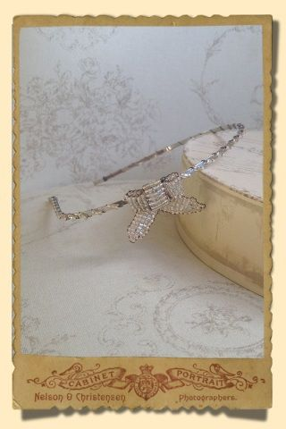 Stacey Hannan Designs - Small Silver Bow Vintage Inspired Headband, €75.00 (http://www.staceyhannandesigns.com/small-silver-bow-vintage-inspired-headband/)