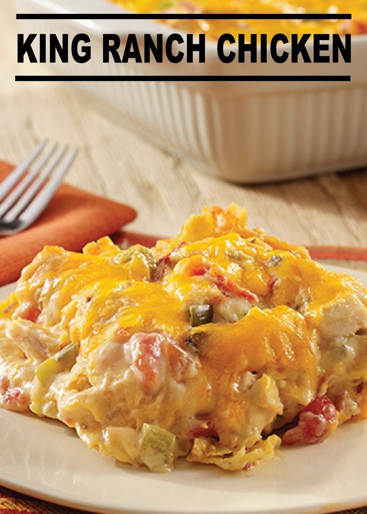Make this signature cheesy RO*TEL King Ranch Chicken recipe for your next weeknight dinner!