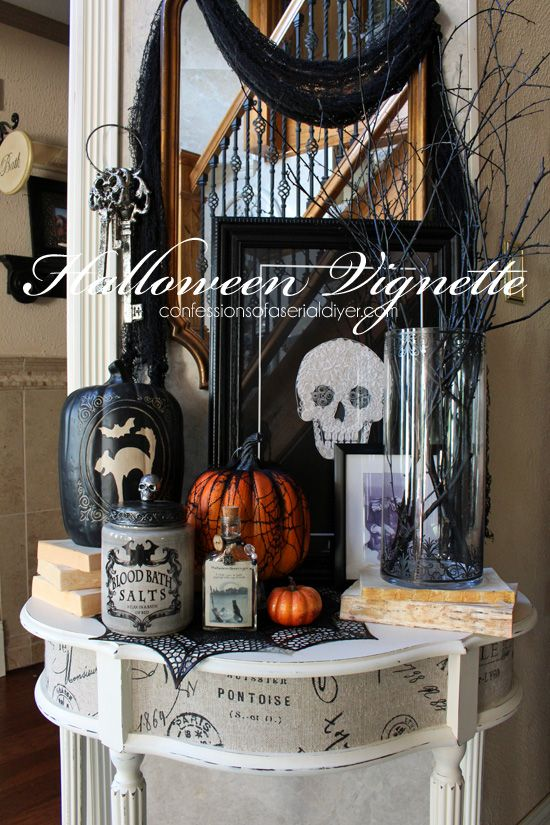 a simple halloween vignette confessions of a serial do it. Black Bedroom Furniture Sets. Home Design Ideas