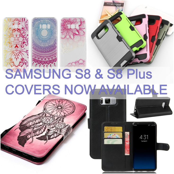 SAMSUNG S8 & S8PLUS Covers & Screen Protectors available! Plain & pattern cases.  #samsung #samsungcase #samsungcovers #samsungrepairs #s8 #s8plus