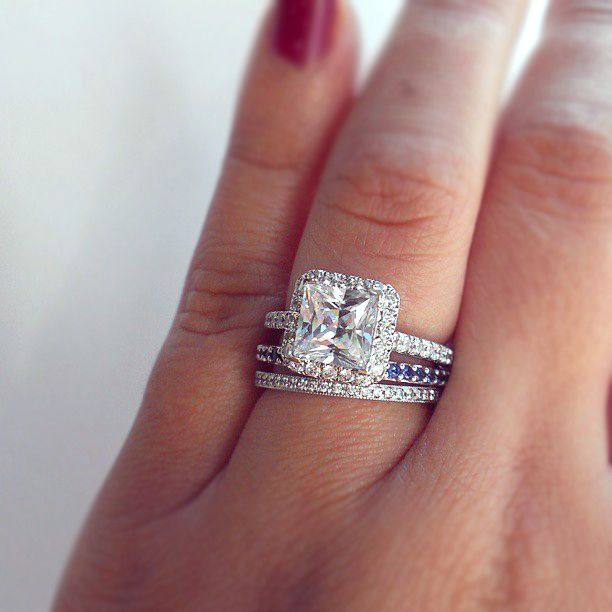 Ever thought of stacking wedding bands? You could add a band with your partners birthstone on your next anniversary.
