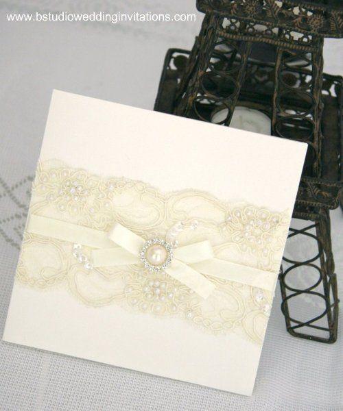 Lace Wedding Invitations | Vintage Glamour Invitations