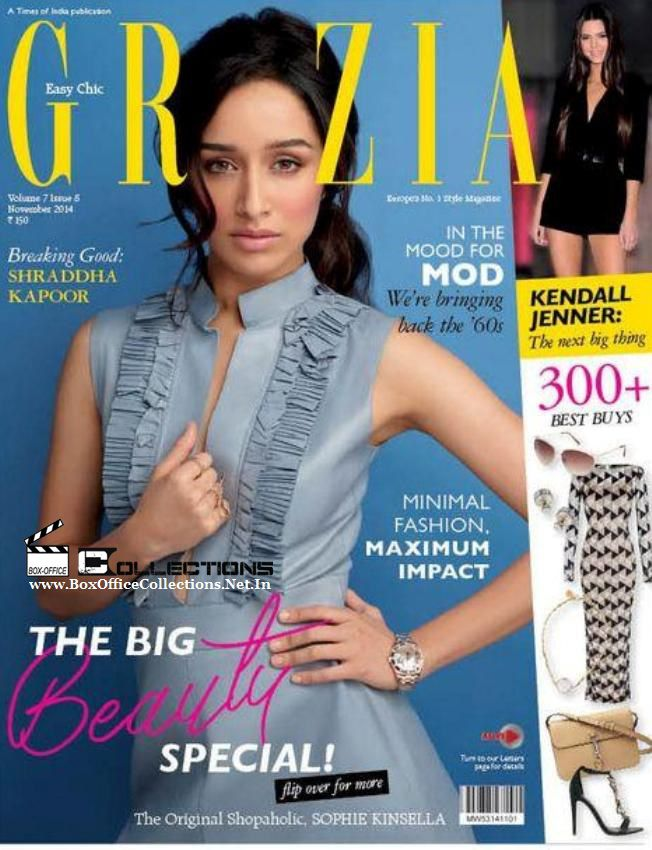 Gorgeous Shraddha Kapoor Sizzling on the Cover of Grazia Magazine November 2014 Issue | BoxOfficeCollections