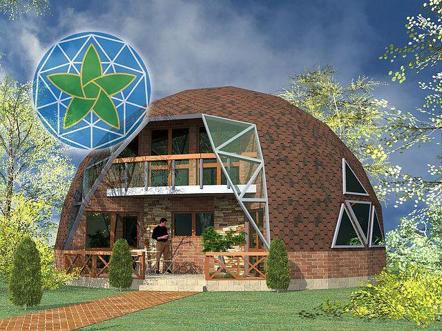 Каркасный, купольный дом 4V-2-120/1, фото 1
