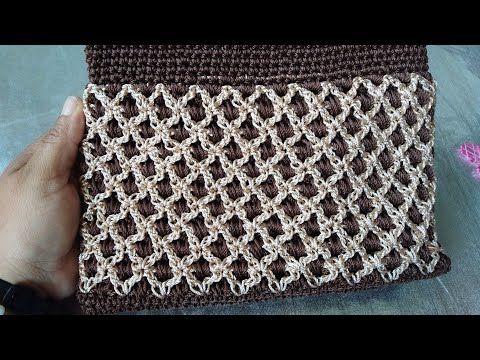 Bolso Tejido a Crochet paso a paso/La Luna Del Crochet - YouTube