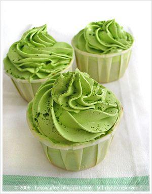 green tea cupcakes . . .:
