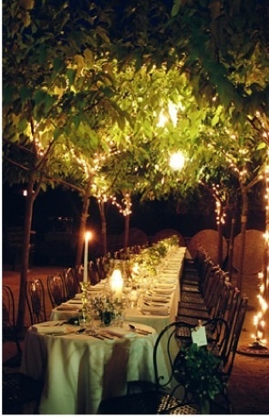 Evening Garden Wedding Dinner ...magical!