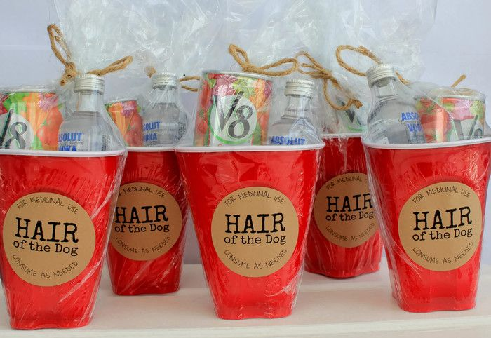 Super cute, 'recovery' aid for your guests the morning after the reception…