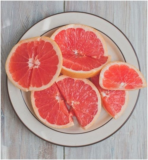 17 Amazing Benefits Of Grapefruits For Skin And Health I try to eat one organic grapefruit a day. Half at breakfast and the other half at lunch.