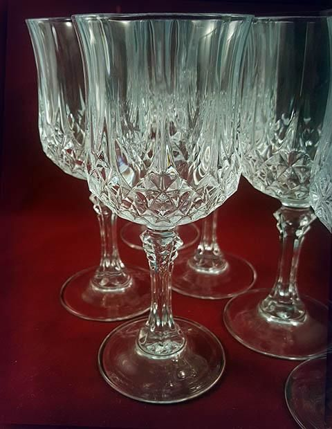 Cristal Darques Verres.Cristal D Arques Longchamp Wine Goblets Set Of 6 Crystal