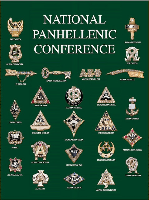 National Panhellenic Conference Badges