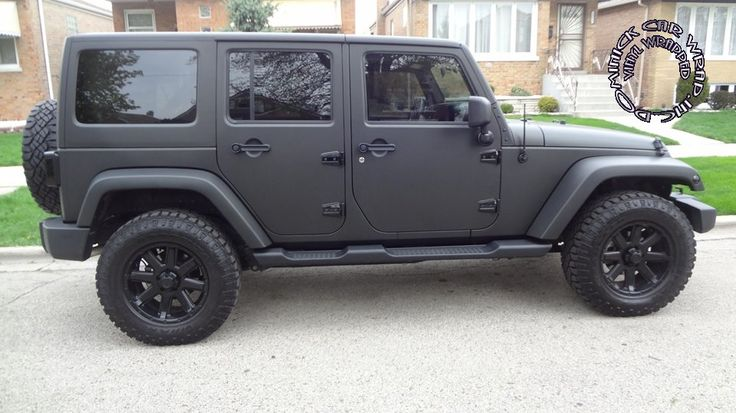 best wrap for jeep jk google search vroom vroom pinterest black matte black and wraps. Black Bedroom Furniture Sets. Home Design Ideas