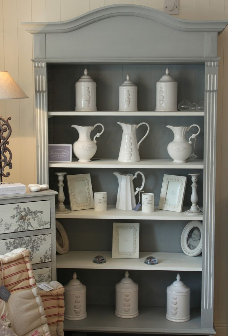 La Vie En Rose Bookcase Painted In Annie Sloan Chalk