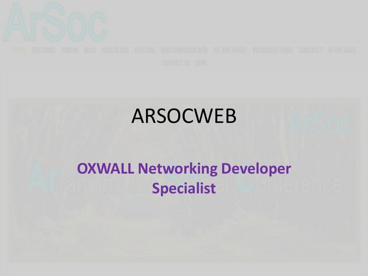 arsocweb-for-oxwall-software-website-social-networking-development by Abdurrohman Rusdi via Slideshare
