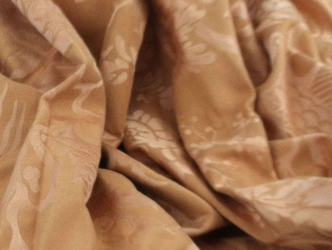 Damask Peach 54W 2.5 Yards Asian Print Upholstry Drapery Fabric