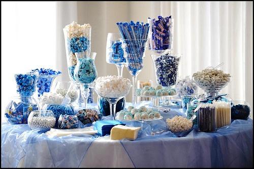 Голубые сладости для свадьбы