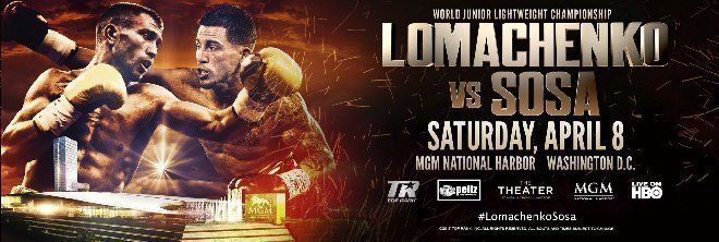 FOLLOW AND SHARE  OLEKSANDR USYK VS. MIKE HUNTER AND OLEKSANDR GVOZDYK VS. YUNIESKY GONZALEZ TITLE FIGHTS ADDED TO LOMACHENKO – SOSA  WORLD CHAMPIONSHIP EVENT!   Saturday, April 8 The Theater at MGM National Harbor Live on HBO World Championship Boxing®                 OXON HILL, MD (February 23, 2017) — The VASYL LOMACHENKO – JASON …