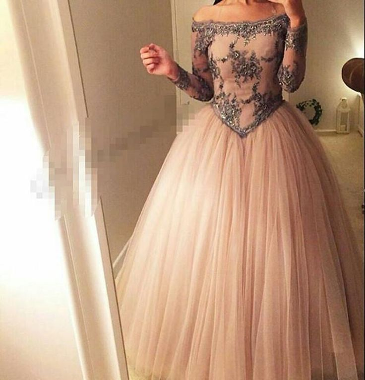 Ball Gown Prom Dresses 2016 Off The Shoulder Sheer Long Sleeves Basque Waist Floor Length Tulle Arabia Evening Dresses Scala Prom Dresses Short Sexy Prom Dresses From Hua_yi_zhang, $131.34| Dhgate.Com