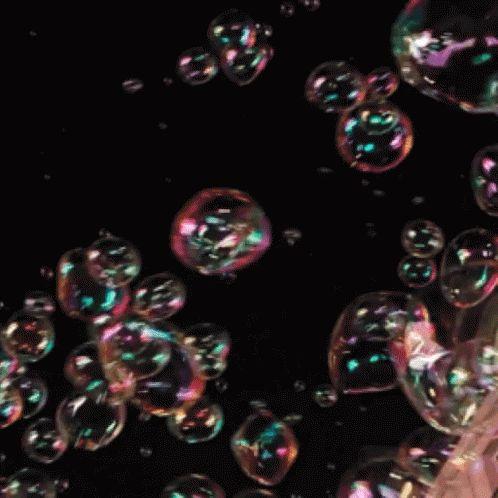 Картинка с анимацией пузырьков, малышу месяцев