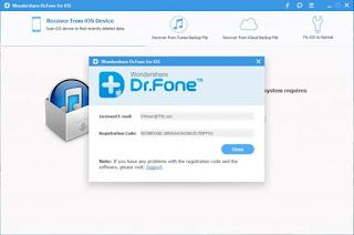 Features of Wondershare Dr.Fone Toolkit for iOS 8.6