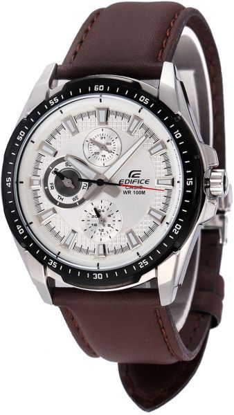 Casio Edifice Men's Silver Dial Leather Band Watch - EF-336L-7AVDF, price, review and buy in Dubai, Abu Dhabi and rest of United Arab Emirates | Souq.com